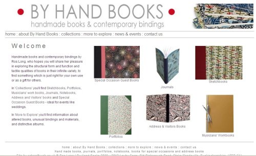 By Hand Books home page