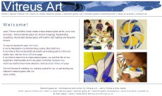 Vitreus Art website - ecommerce and rich content